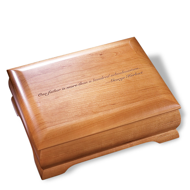 Natural Cherry Commemorative Box, Monogrammed