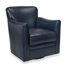 Levenger Leather Wingback Chair - Oceanic