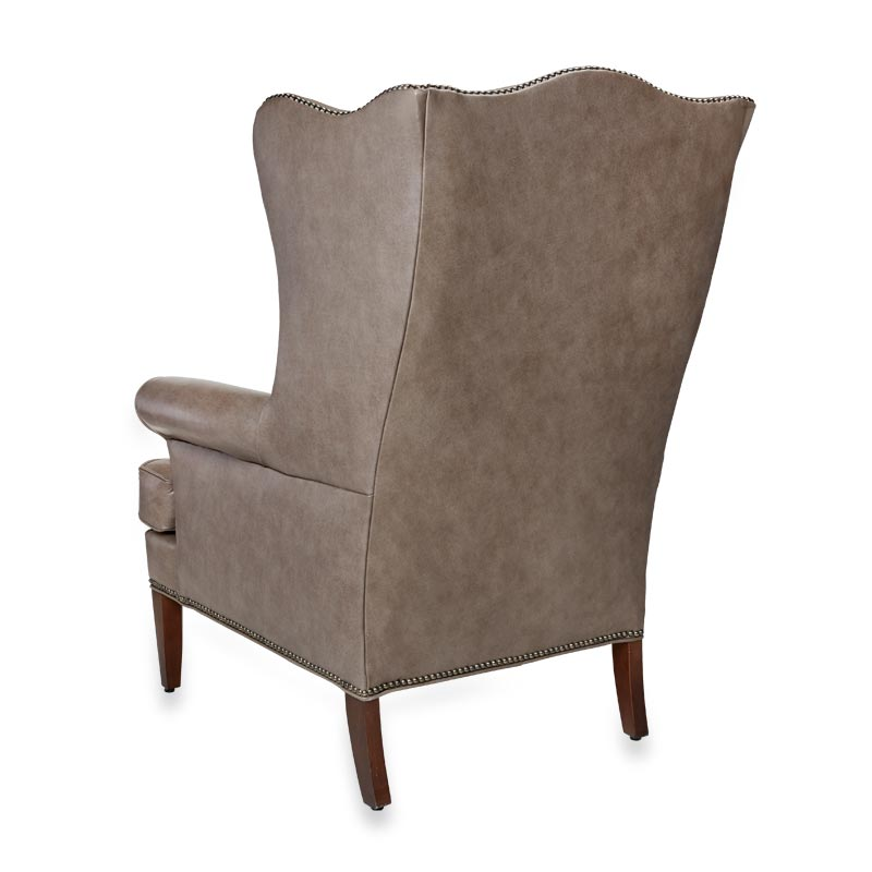 Perfect Levenger Leather Wingback Chair  Touch Of Grey