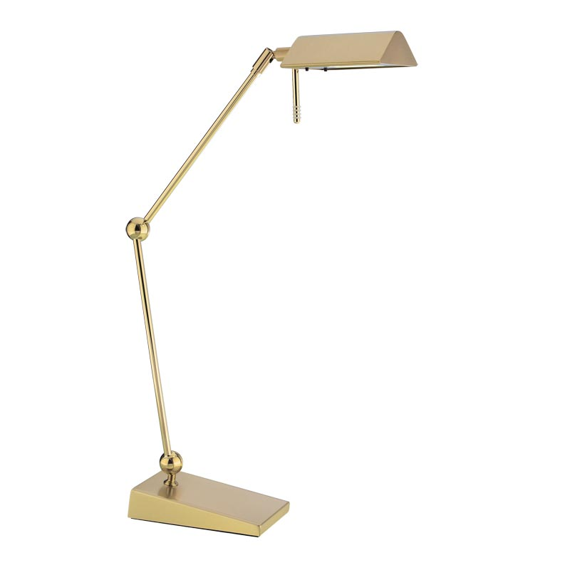 Pharmacy led table lamp polished brass brushed brass
