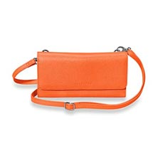 Phone & File Clutch, Brights - Tangerine