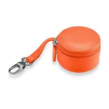 Zip-N-Store Earbud Holder, Brights - Tangerine