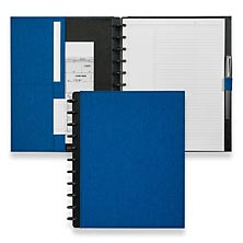Circa Bookcloth Foldover Notebook, Cobalt Blue, Letter