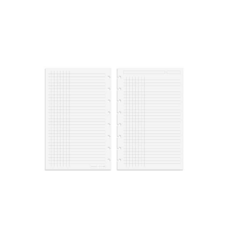 Circa TASK Refill Sheets, Grid/Rule Junior