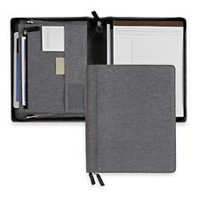 Bookcloth Zip Folio - Letter