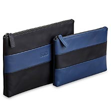 Rugby Travel Pouches (set of 2) - Black