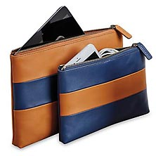 Rugby Travel Pouches (set of 2) - Saddle
