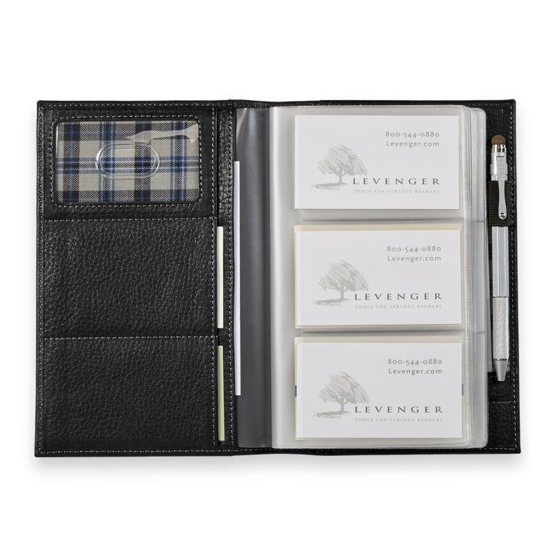 Bomber jacket business card organizer levenger click arrows for more images and roll over to zoom in reheart Gallery