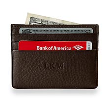 RFID Card Stack Wallet, Espresso