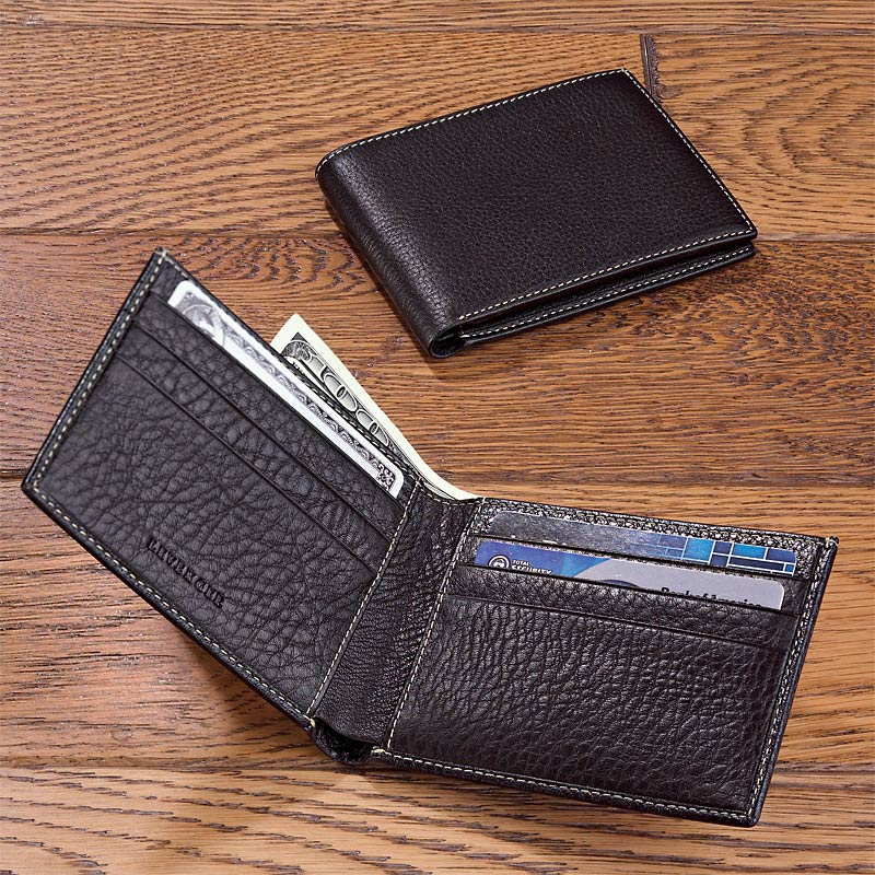 Bomber Jacket Slim Leather Wallet