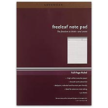 Freeleaf White Full-Page Ruled Pads, Letter