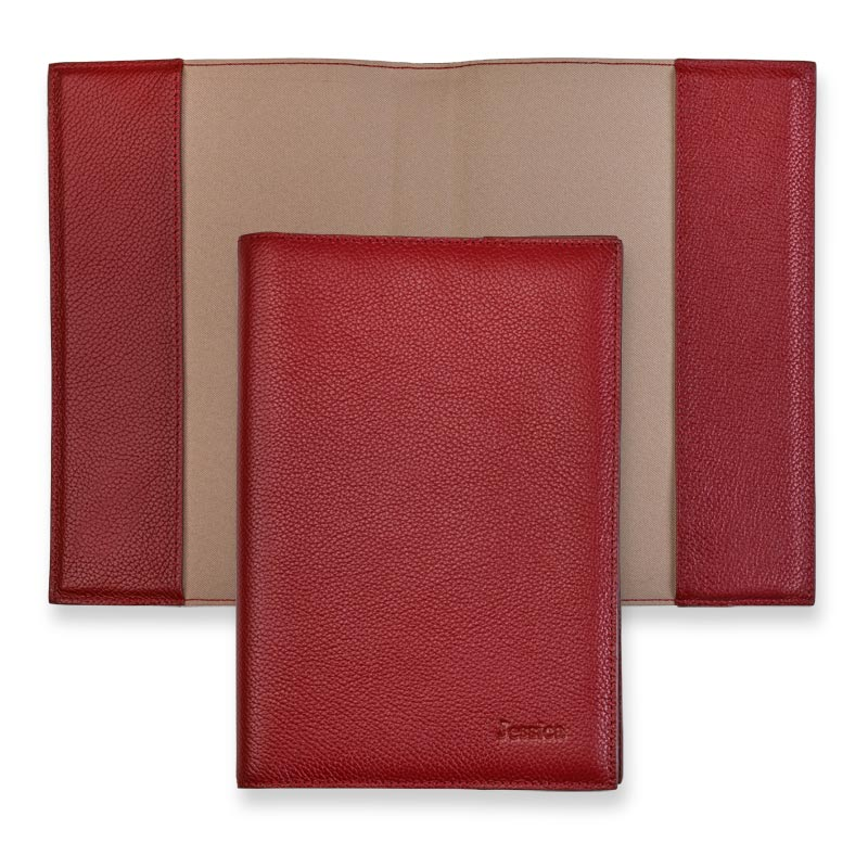 Leather 5-Year Journal Cover - Berry Red