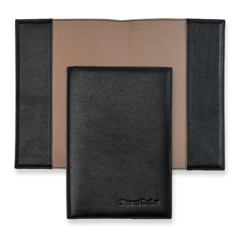 Leather 5-Year Journal Cover - Black