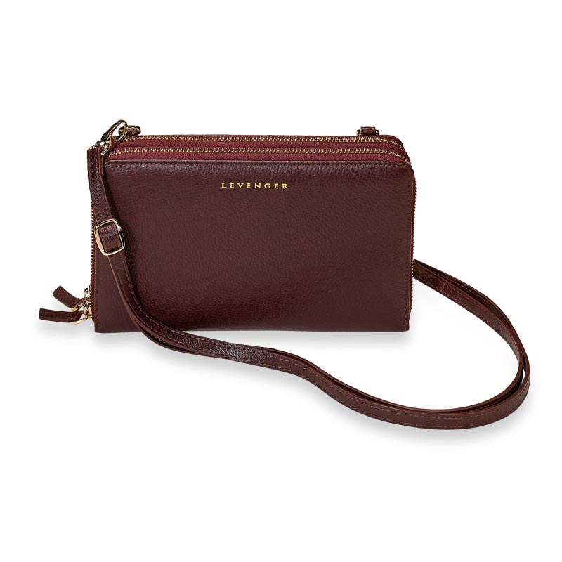 Carrie Convertible Clutch - Oxblood