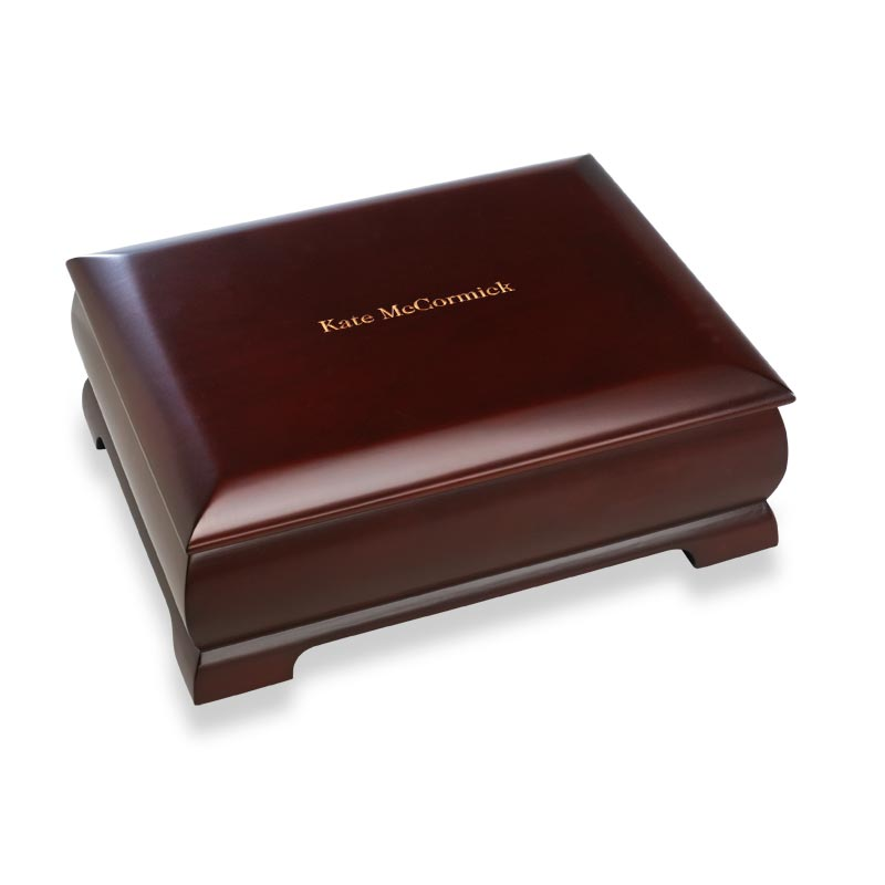Dark Cherry Commemorative Box, Monogrammed