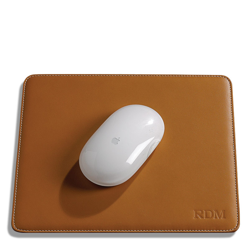 Morgan Mouse Pad Leather Mouse Pad Levenger