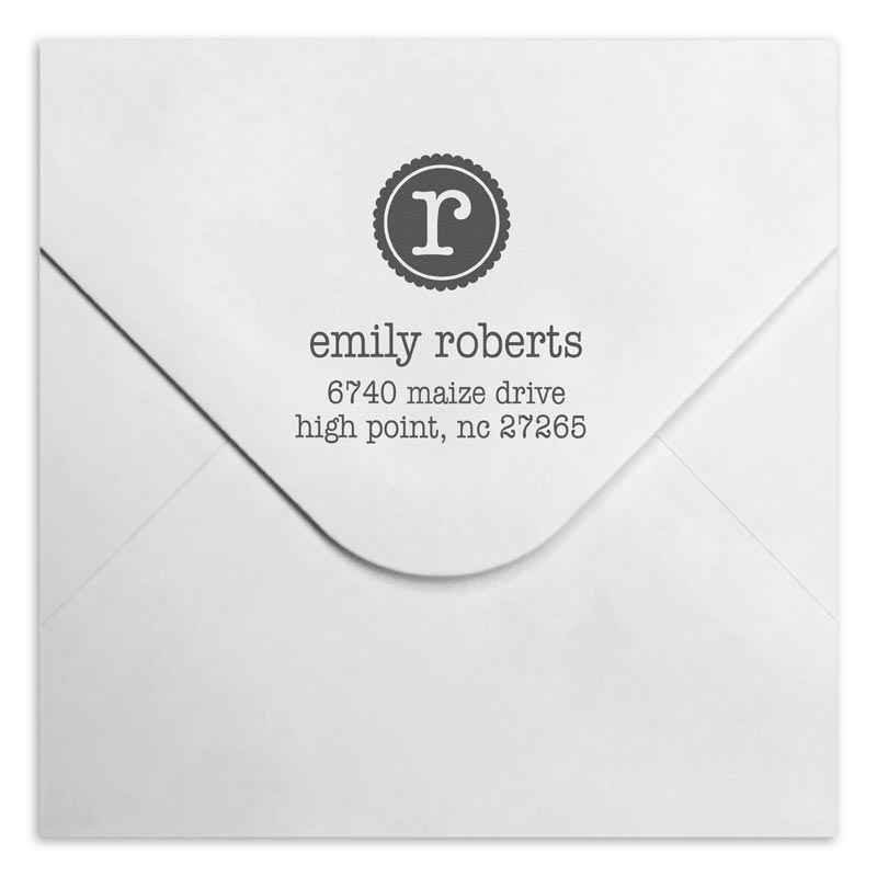 Emily Personalized Self-Inking Stamper, Square