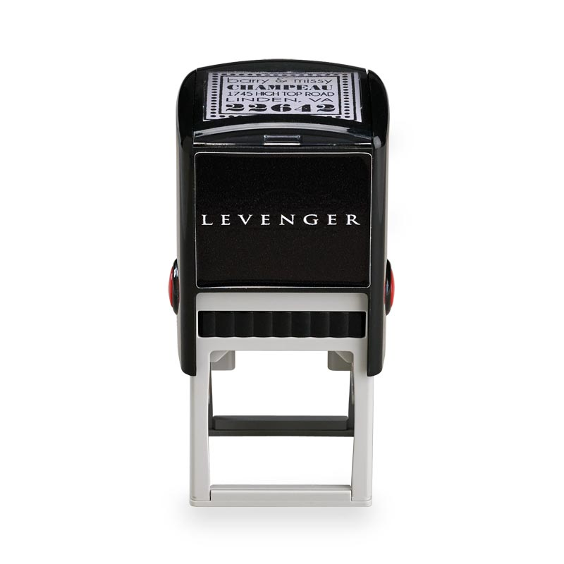 Lindsey Personalized Self-Inking Stamper, Square