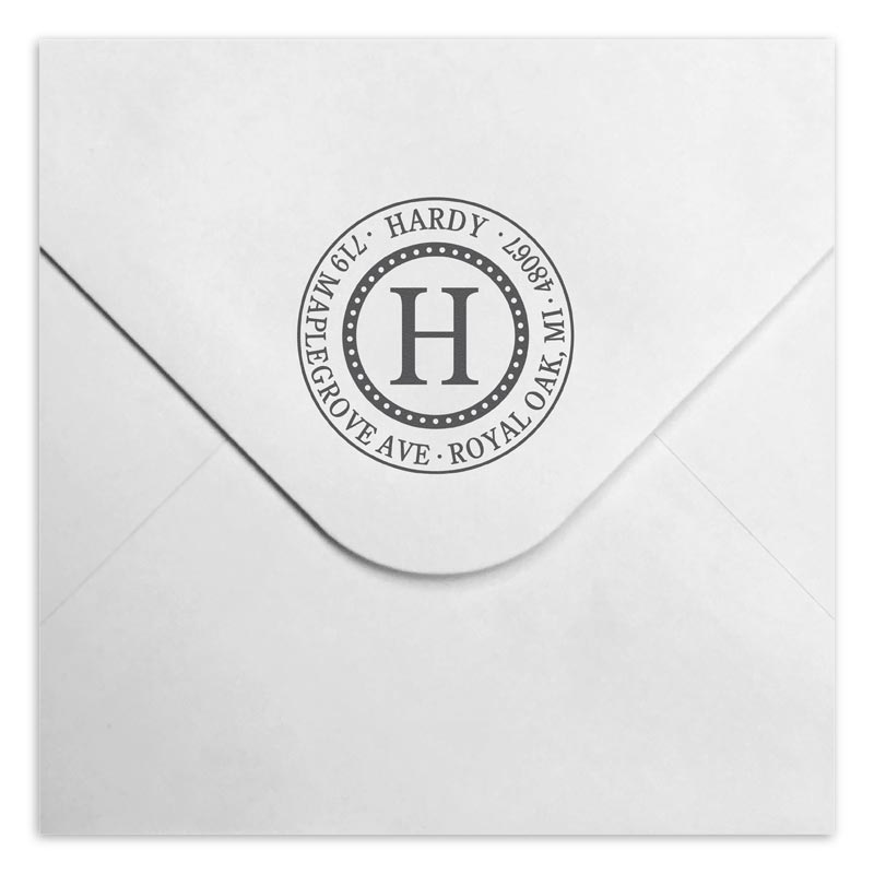 Royal Personalized Self-Inking Stamper, Round