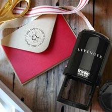 Claire Personalized Self-Inking Stamper, Round
