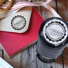 Livingston Personalized Self-Inking Stamper, Round
