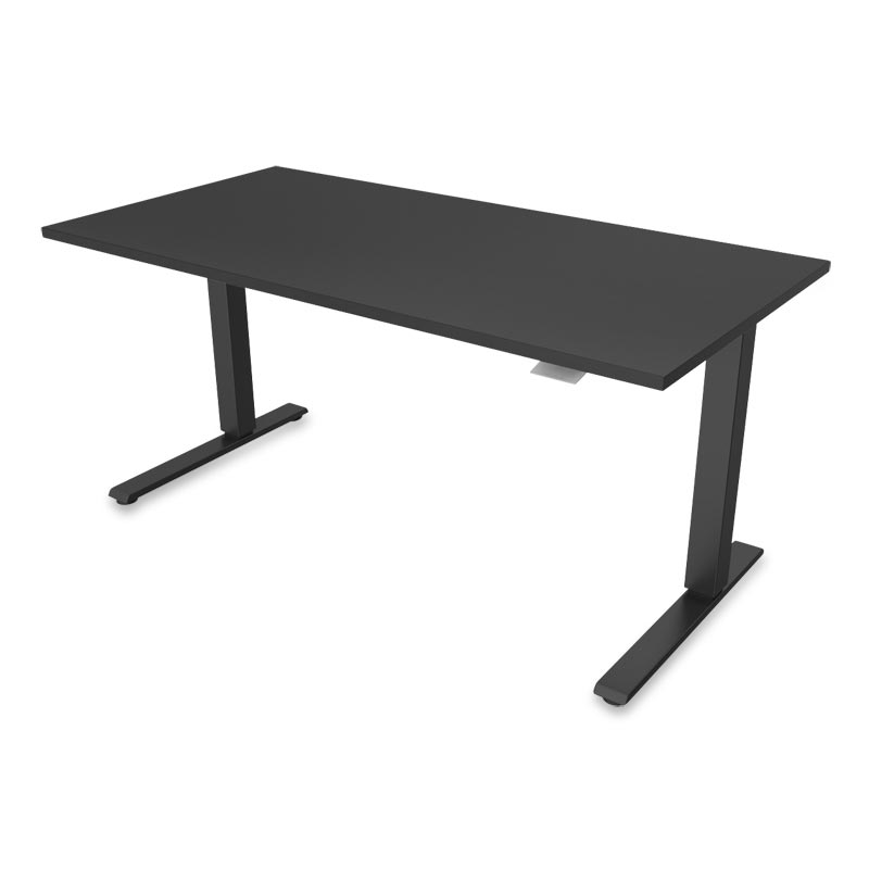 Float Desk, Base Black Top Black
