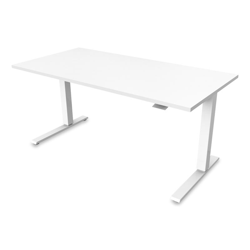 Float Desk, Base White Top White
