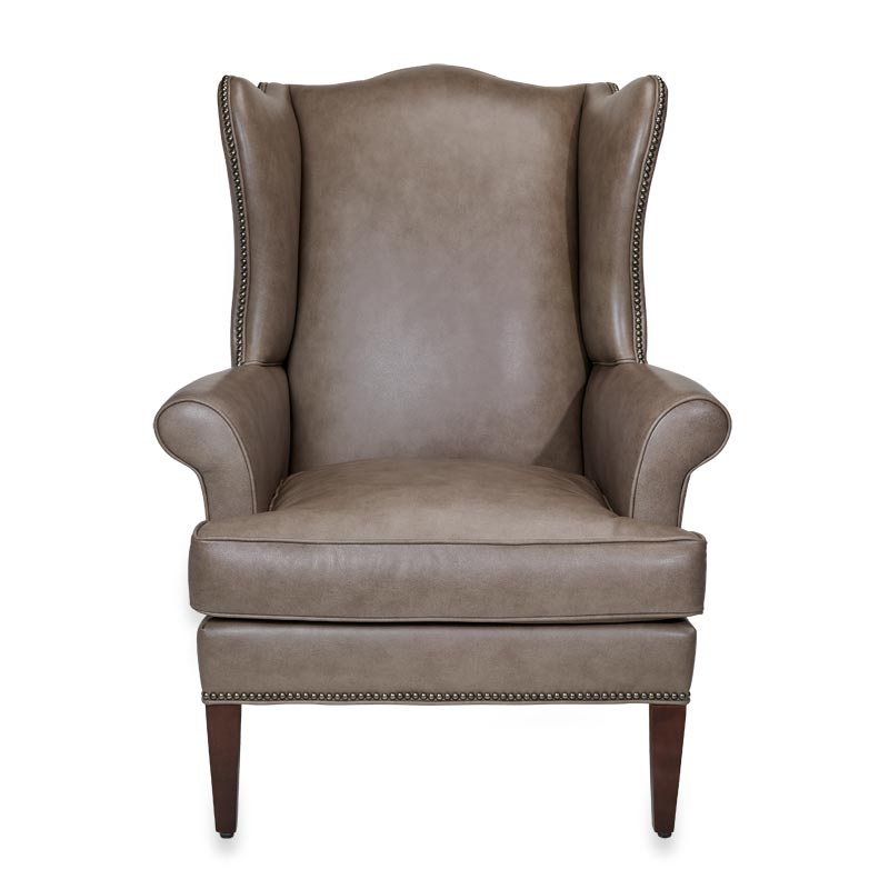 Levenger Leather Wingback Chair  Touch Of Grey