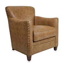 Levenger Leather Cardroom Chair - Chestnut Mare