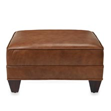 Levenger Leather Club Ottoman - Penny Lane