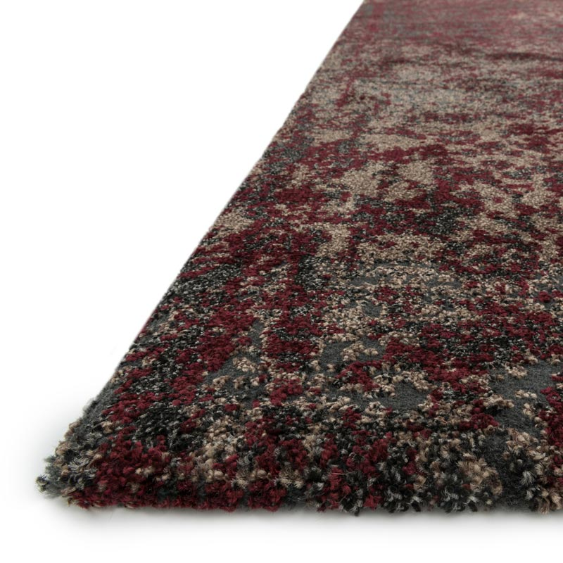 Viera Rug - Charcoal/Red