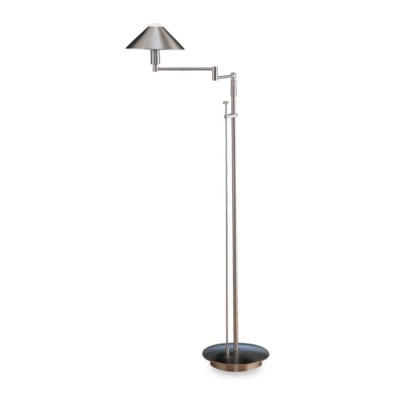 Absolute Swing-Arm Floor Lamp, Satin Nickel