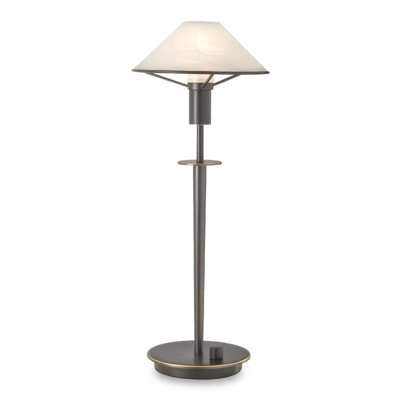 Little Star Table Lamp, Hand-Finished Bronze, Alabaster White