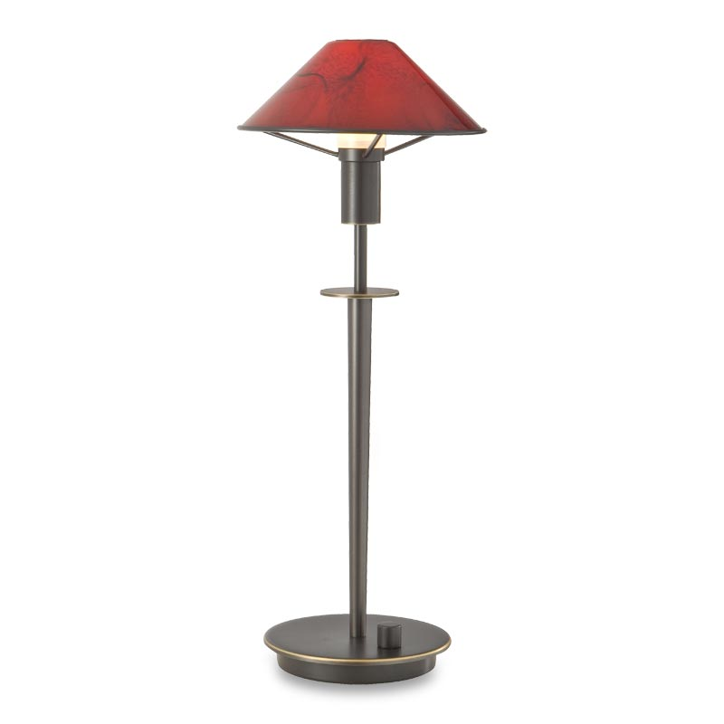 Little Star Table Lamp, Hand Finished Bronze, Magma Red