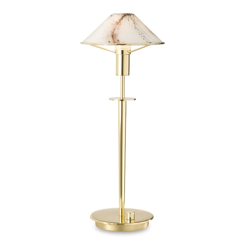 Little Star Table Lamp, Polished Brass, Marble