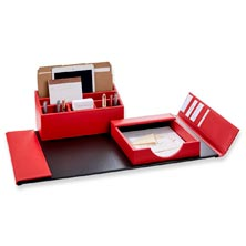 Red Dyana Desk Set (3 Pieces)