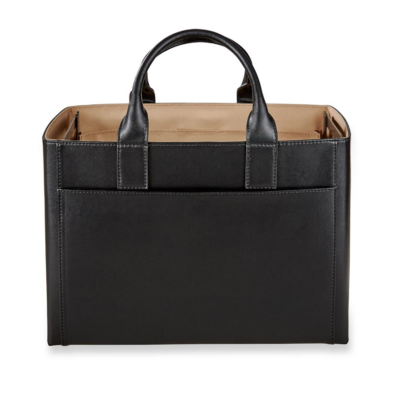 Portable File Tote Black