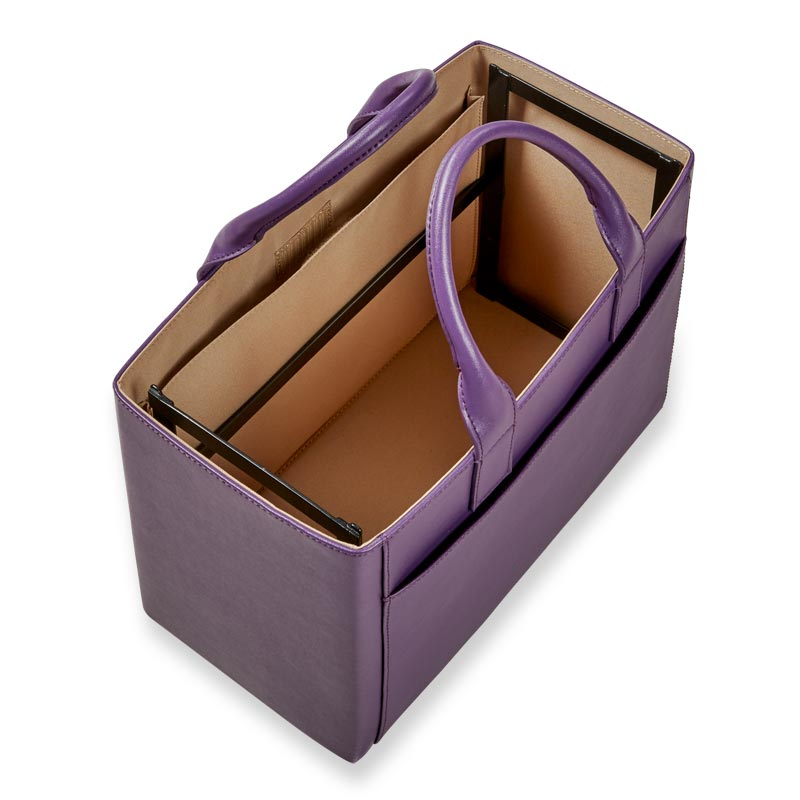 Portable File Tote Purple