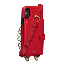 Leather Crossbody Wallet Case iPhone XS Max - Red