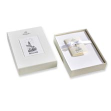 Pineider Milano Boxed Cards White