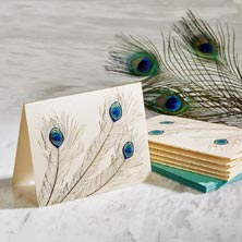 Peacock Trio Everyday Card