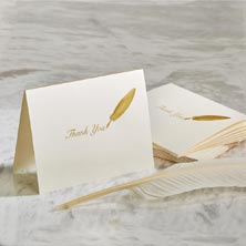 Quill Thank You Card