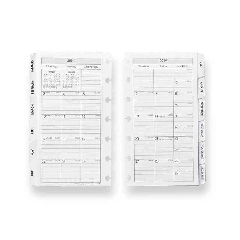 2019 Circa® Monthly Tabs Pullout Calendar, Compact