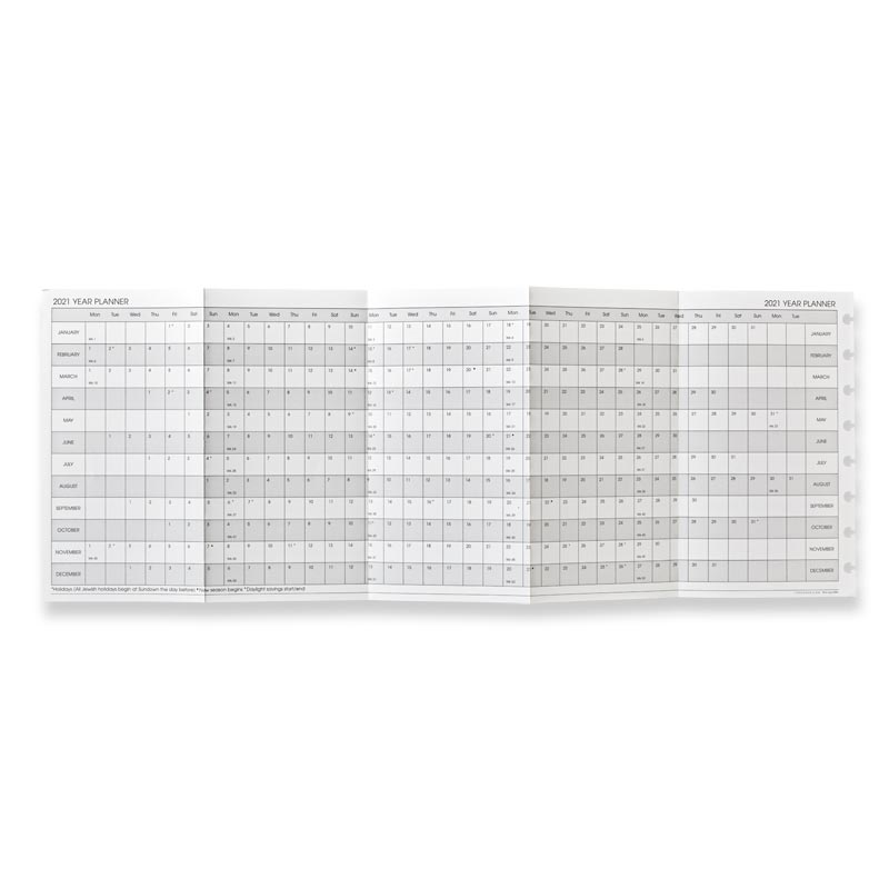 2020 Circa® Monthly Tabs Pullout Calendar, Junior