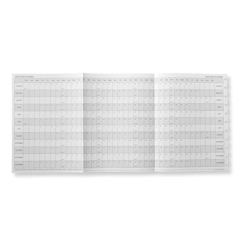 2019 Circa® Monthly Tabs and Pullout Calendar, Letter