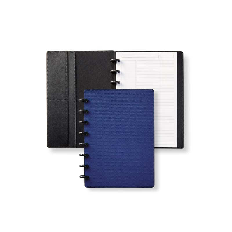 Circa® Impressions Sliver Notebook with Pockets - Blue