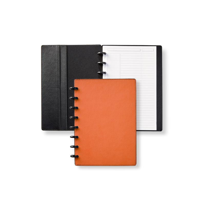 Circa® Impressions Sliver Notebook with Pockets - Orange