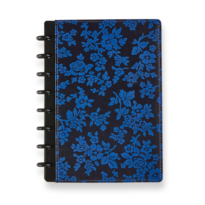 Circa Cherry Blossom Foldover Notebook, Royal Blue