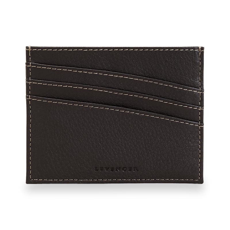 Bomber Jacket Front Pocket Wallet with RFID Protection - Mocha