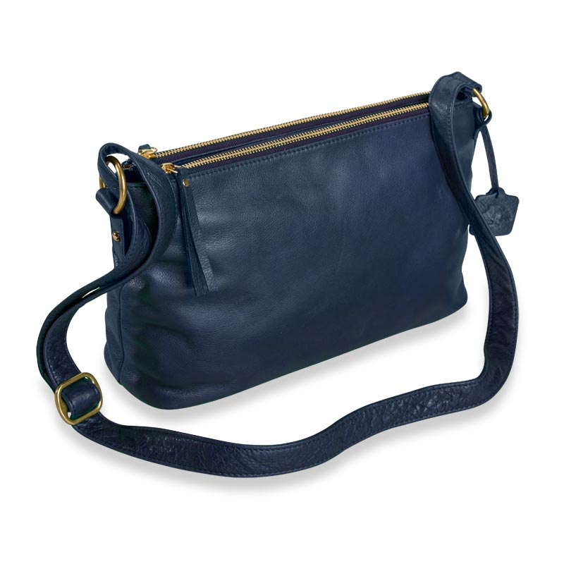 Alexa Double-Zip Handbag - Empyrean